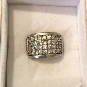 Silpada Sterling Silver CZ Band Ring size 8